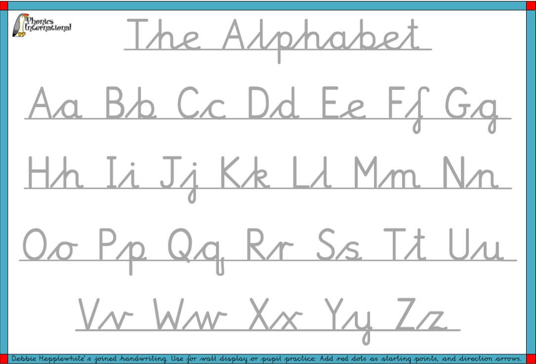 Free Resources – Debbie Hepplewhite Handwriting